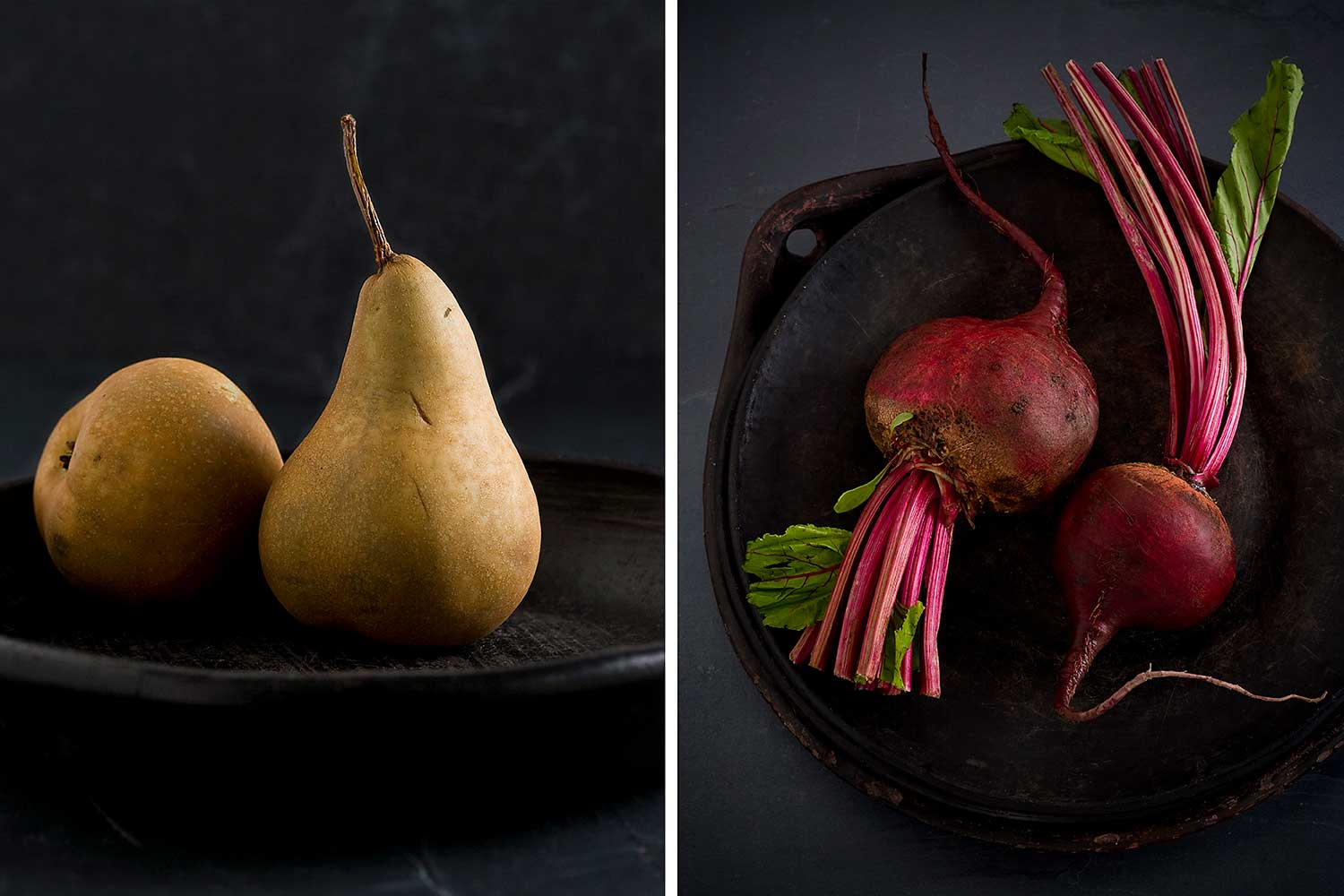 Pears and radishes
