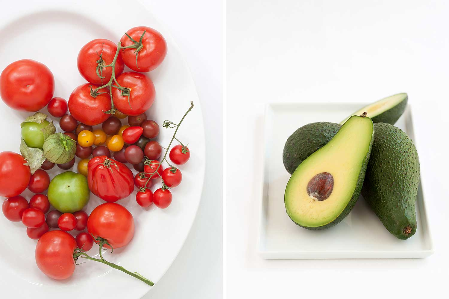Tomatoes and avocados