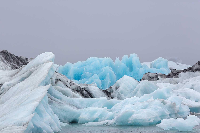 Glacier Ice . Iceland