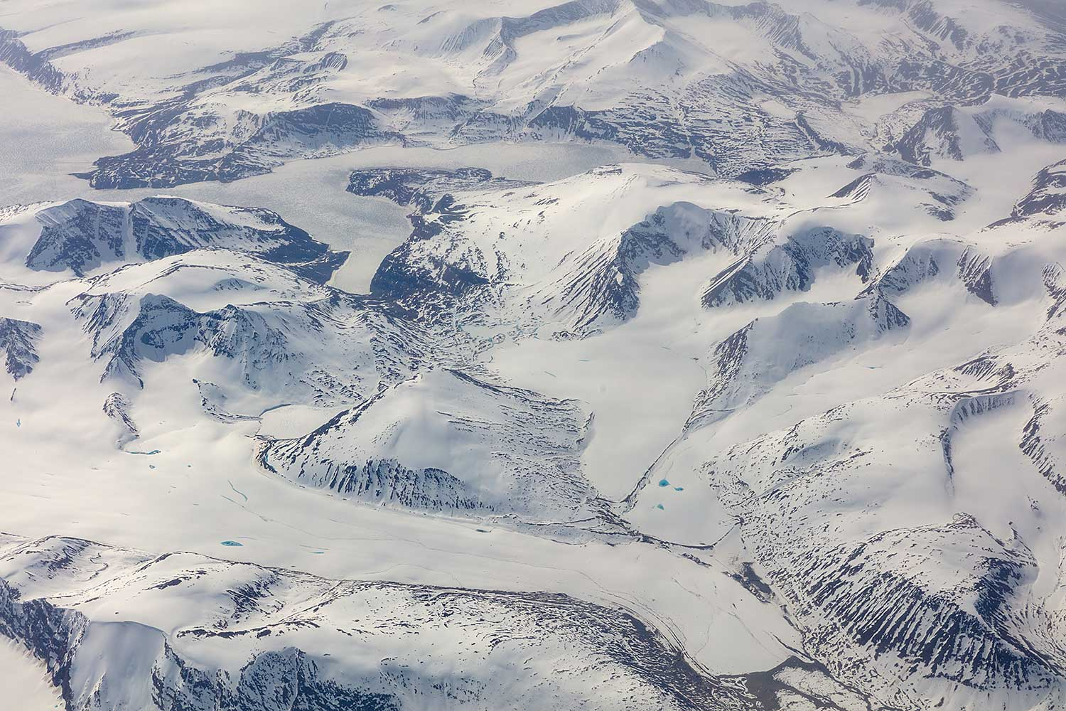 High over Greenland.